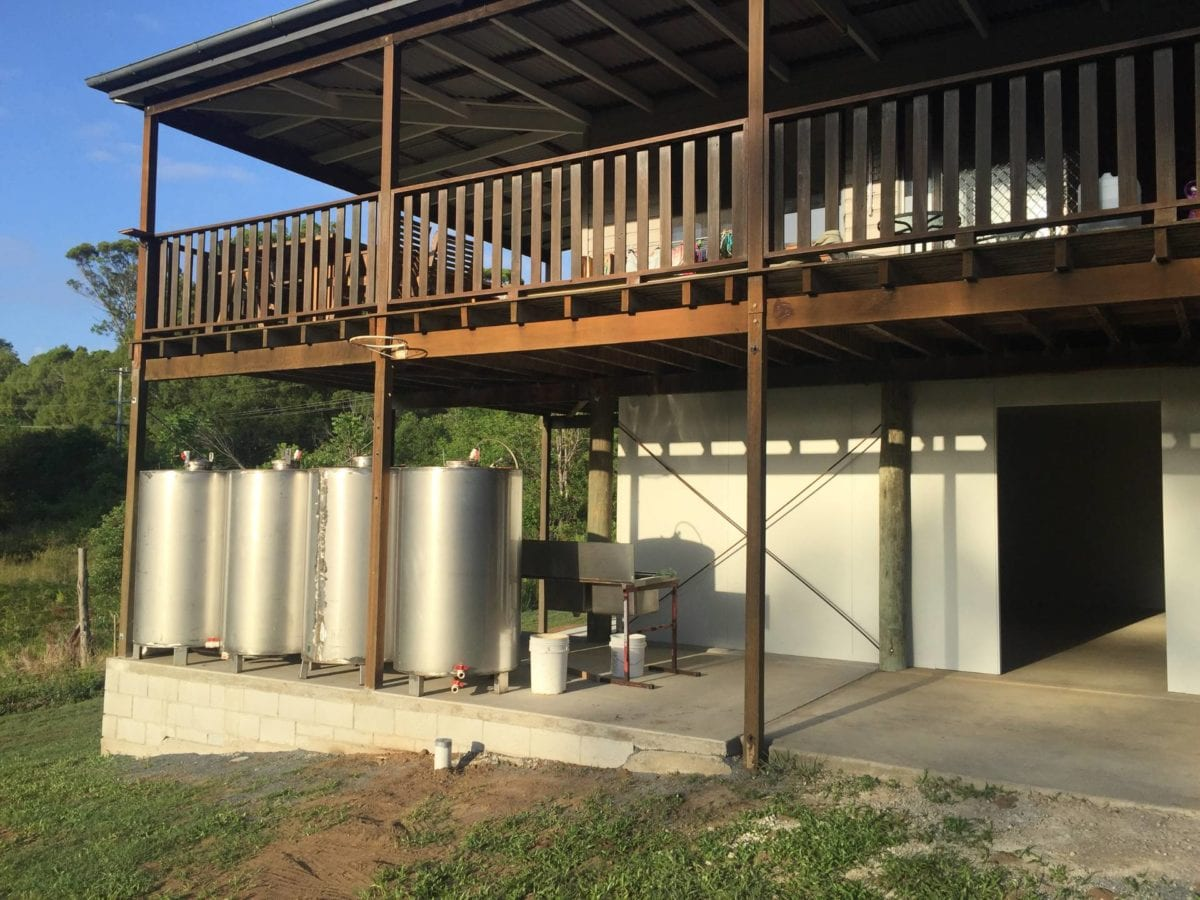 Our Cidery in Woombye just before we got the first juice done (2017)