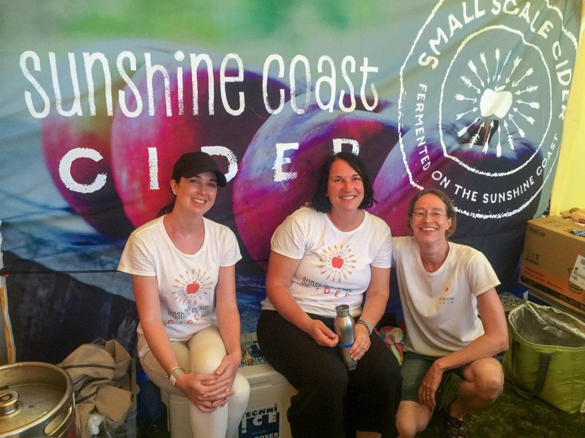 Our first Festival – Sunshine Coast Craft Beer and Cider Festival – 2017. Angelina, Conny and Regine