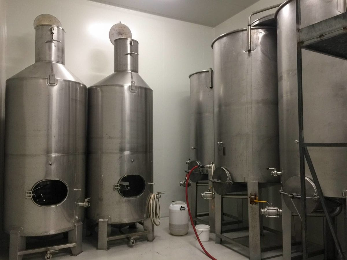 Tanks used for making Cider in our fermentation room
